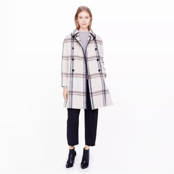 Club Monaco Wool-blend Plaid Jacket - size Small